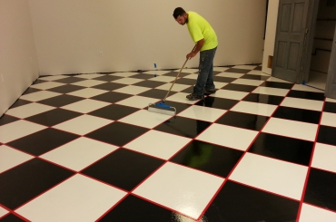 Residential - Checkered Floor